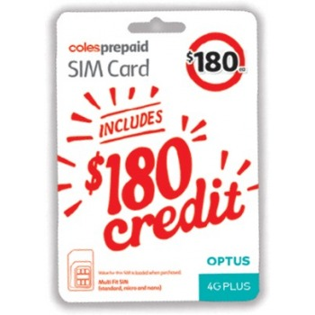 Coles Coles Prepaid Sim Card 42gb 36gb 6gb Bonus Data For 180 Topbargains