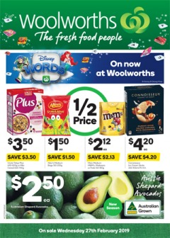 Woolworths - 1/2 Price Food & Grocery Specials - Ends Tues
