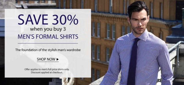 Save 30 For Purchase Of 3 Men S Formal Shirts Austin Reed Topbargains