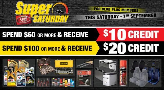 Supercheap Auto - Super Saturday Sale: Spend $60 & Get $10