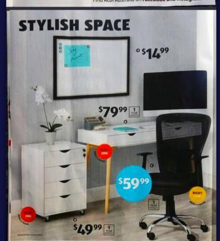 low priced f0e2e bb433 Aldi - Under Desk Cabinet $49.99; Office Chair $59.99 ...