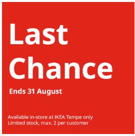 IKEA - Last Chance Sale: Up to 80% Off Items e g  SAGSTUA