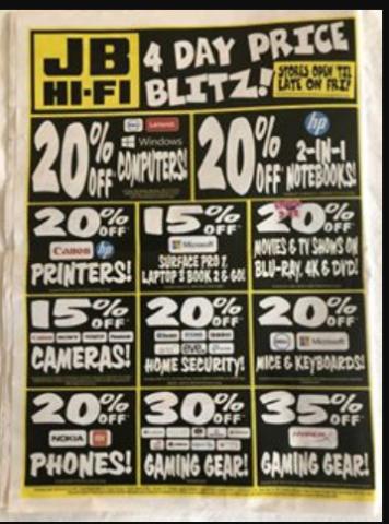 Jb Hi Fi Black Friday Price Blitz 2019 Sale Catalogue Starts 29th November Printable Version Topbargains