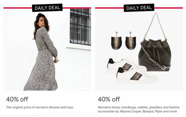 Myer - Daily Deal: Take a Further 40% Off Original Price of
