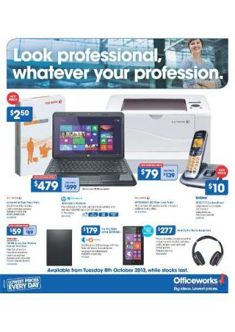 Officeworks Latest Catalogue - Hot Prices on Office Electronics and