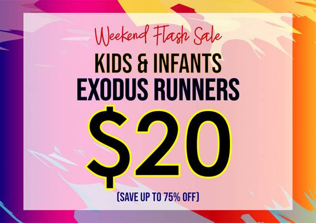 FILA - Weekend Flash Sale - Up to 75% Off Kids   Infants Exodus Runners --   Now  20 (Was  80)  8a4b2112739c1