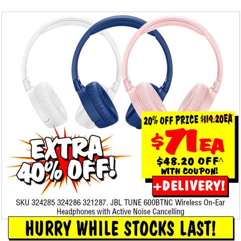 6ac40c05b83 JB Hi-Fi - Extra 40% off on JBL Wireless On-Ear Headphones (code)! Now $71  (Was $119.20)   TopBargains