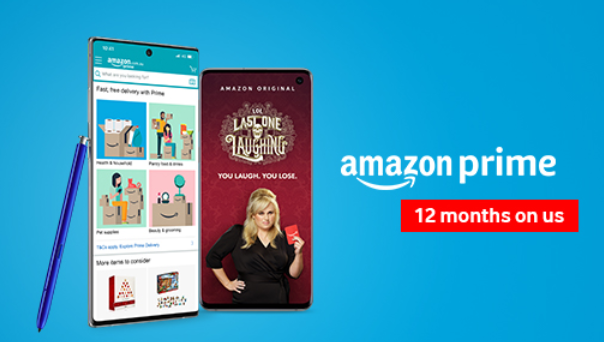 vodafone  free 12 months amazon prime with 12 months to