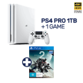 eBay EB Games - PlayStation 4 Pro 1TB Glacier White Console + Destiny 2 Deluxe Edition $462.6 Delivered (code)! Was $649