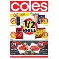 Coles - 1/2 Price Food & Grocery Specials -  Starts Wed, 11th Jan