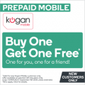 Kogan Mobile - Buy One Get One Free Unlimited Calls & SMS : 16GB ---> $399.90; 23GB ----> $529.90 (365 Days Plan)