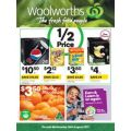 Woolworths  - 1/2 Price Food & Grocery Specials - Starts Wed, 16th Aug