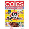 Coles - 1/2 Price Food & Grocery Specials - Starts Wed 11th Sept