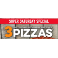Dominos - 3 Large Traditional Pizzas $24 Delivered (code)