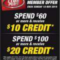 Supercheap Auto - $10 Credit with $60 Spend, $20 Credit with $100 Spend (Club Plus Membership Required)