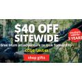 Adrenaline - Flash Sale: $40 Off Orders - Minimum Spend $199 (code)