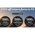 Air New Zealand - $200 Off Return Flights to New Zealand (code)! Today Only
