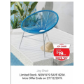 Amart Furniture - Boxing Day Sale 2019: Joy Outdoor Sun Chair $19 (Was $39)