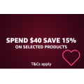 Amazon - Valentine's Special: 15% Off Everyday Essential - Minimum spend $40