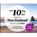 Air New Zealand - Travel Frenzy: 10% Off Flights to New Zealand (code)! 3 Days Only