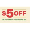 Angus & Robertson - $5 Off Orders - Minimum Spend $60 (code)