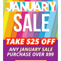 Pushys - January Sale: $25 Off Orders (code)! Minimum Spend $99