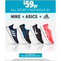 All Adidas, Asics, Nike Footwear only $59 @ Anaconda - In Stores Only