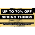 ASOS - Spring Things Sale: Up to 70% Off Sale Items e.g. Accessories $6.4; T-Shirt $12; Dresses $14.4; Shorts $12 etc.