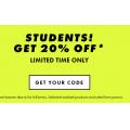 ASOS - 20% Off for Students! Maximum Spend $950