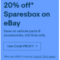 eBay Sparebox - 20% Off Everything (code)! Max. Discount $500