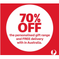 Australia Post - Christmas Sale: 70% Off Personalised Gifts & Free Shipping