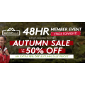 Kathmandu - 24 HRS Autumn Sale: Up to 50% Off Storewide + Extra 10% Off Sale Prices