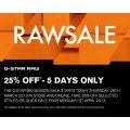 Raw Sale 25% OFF @ G-Star