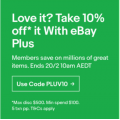 eBay - Valentine's Day Special: 10% Off Orders - Minimum Spend $100 (code)! Plus Members Only