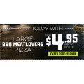 Dominos - Large BBQ Meatlovers Pizza $4.95 Pick up via App (code)