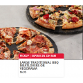Dominos - App Exclusive Deal: Large Traditional BBQ Meatlovers or Vegorama $6.95 Pick-Up via App - Today Only