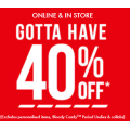 BONDS - End of Season Sale: 40% Off Sitewide + Free Shipping [In-Store & Online]