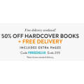 Snapfish - Flash Sale: 50% Off Hardcover Books + Free Delivery (code)! Today Only