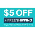 Angus & Robertson - $5 Off + Free Shipping - Minimum Spend $80 (code)