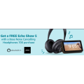 Amazon - FREE Echo Dot 3rd Gen /  Echo Show 5 with Bose QuietComfort 35 Series II Noise Cancelling Wireless Bluetooth Headphones / Bose Noise Cancelling Headphones 700