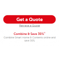 30% Off Smart Home & Contents Insurance Online @ Budget Direct When you Combine
