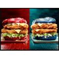KFC - 40th Anniversary State Of Origin Offer: Maroon & Blue Origin Recipe Burger $9.95 / with Combo $12.45 / Boxed Meal $15.45 [Starts Tues 3rd Nov]