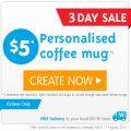 Personalised coffee mug $5 (& free pick up) @ Big W