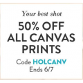 Snapfish - 50% Off all Canvas Prints (code)! Today Only