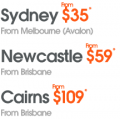Jetstar $35 fares Sydney to/from Melbourne