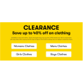 Big W - Mega Clearance Sale: Up to 40% Off on Clothing (In-Store & Online)