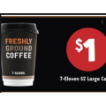 7-Eleven - $1 Large Coffee via Fuel App! Today Only