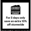 Chemist Warehouse / My Chemist - Black Friday Sale: 10% Off Storewide @ Chadstone VIC [Starts Fri 29th Nov]