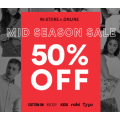 Cotton On - Mid Season Sale: 50% Off Storewide - Items from $0.5