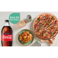 Crust Pizza - 1 Large Pizza, a Herb & Garlic Squares & a 1.25L Drink $34.95 Delivered (code)